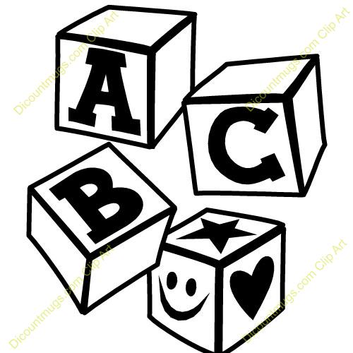 abc blocks clipart black and white clipart panda free