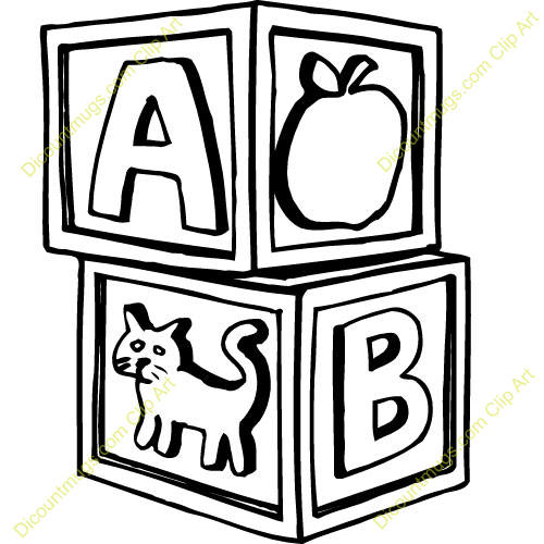 Abc Blocks Clip Art Black And White | www.pixshark.com ...