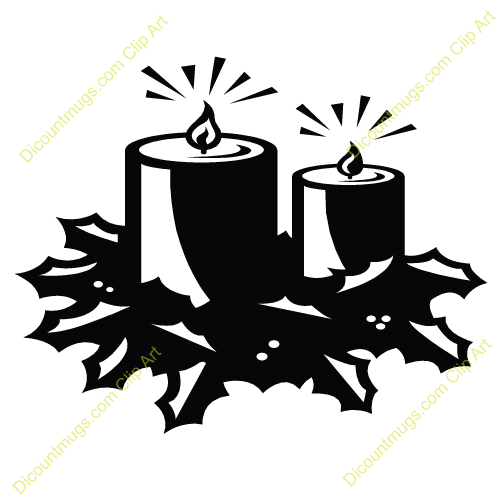 Two Lit Advent Candles In