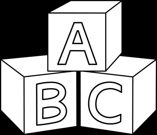 Abc Blocks Clipart Black And White | Clipart Panda - Free Clipart ...