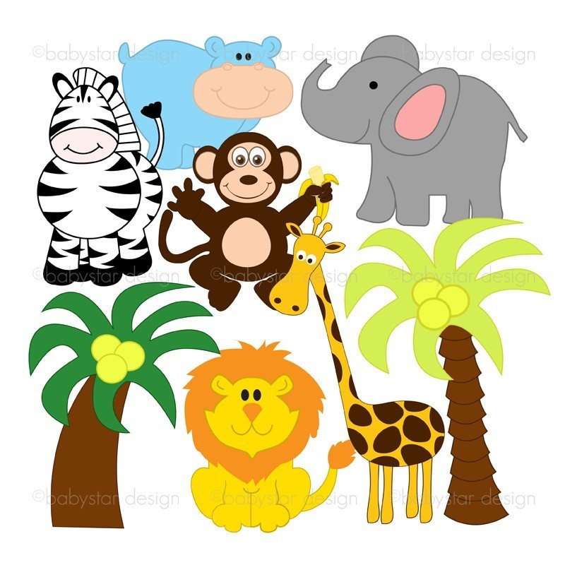 baby jungle animals clipart clipart panda free clipart images rh clipartpanda com jungle animal clipart jungle animal clipart black and white