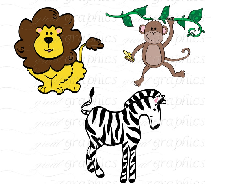 Baby Jungle Animals Clipart | Clipart Panda - Free Clipart Images