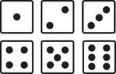 dice faces 1-6