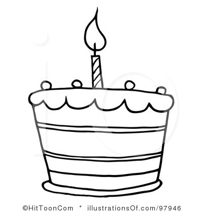1st Birthday Cake Clipart RF