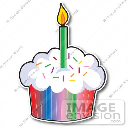 Rainbow Cupcake Clipart