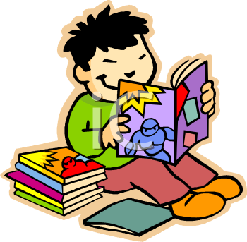 Children Reading And Writing Clipart