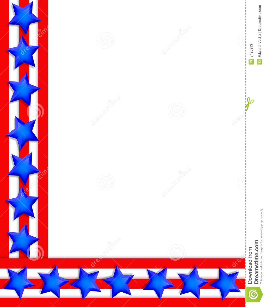 4th of july boarder. Th fireworks border