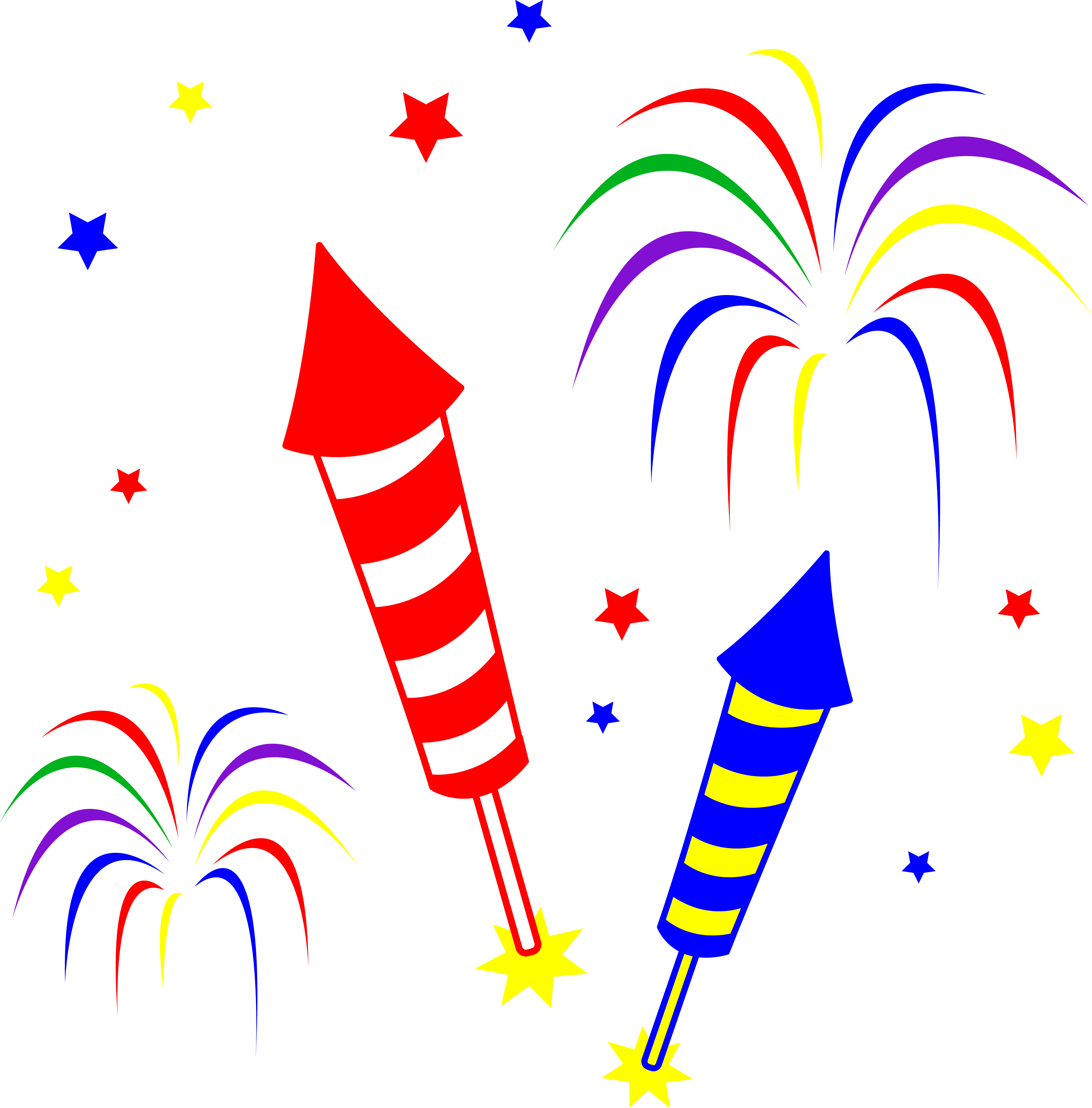 4th Of July Fireworks White Background | Clipart Panda ...
