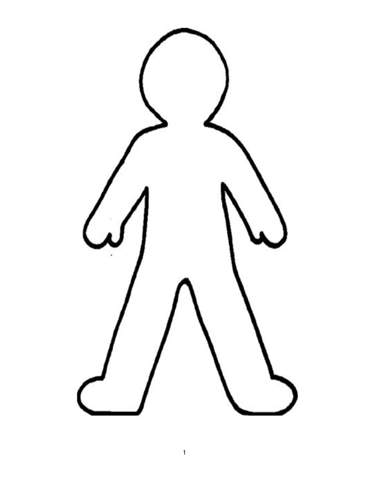 Person outline clipart clipart panda free clipart images for Cut out character template