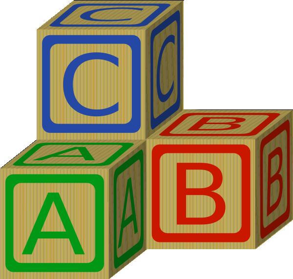 Black And White Abc Blocks : Abc blocks clipart black and white panda free