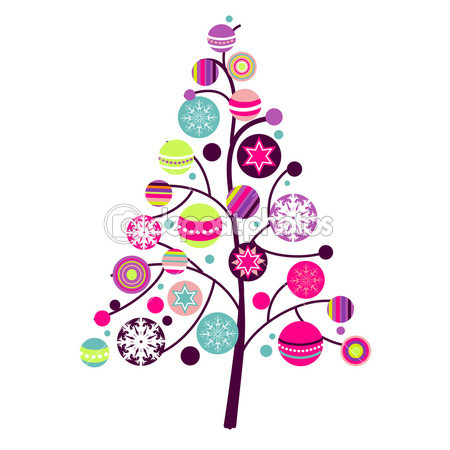 Abstract Christmas Tree Clipart Clipart Panda Free