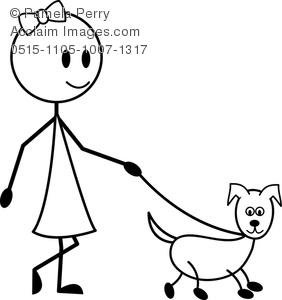 Walking Your Dog Stick Man