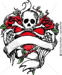 Skull Tattoo Clip Art Vector    Clipart Panda - Free ...