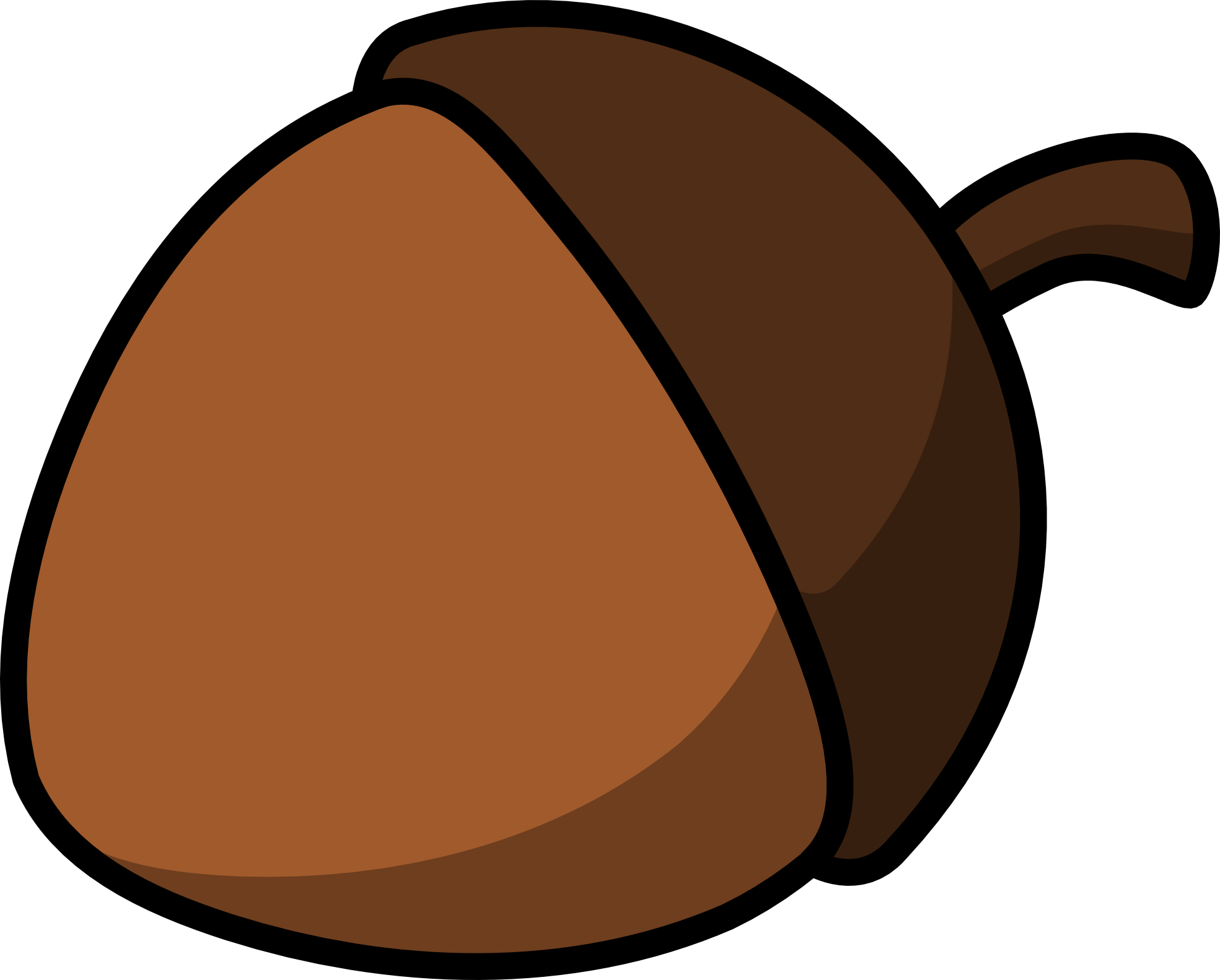 Acorn Clipart Black And White | - 111.6KB