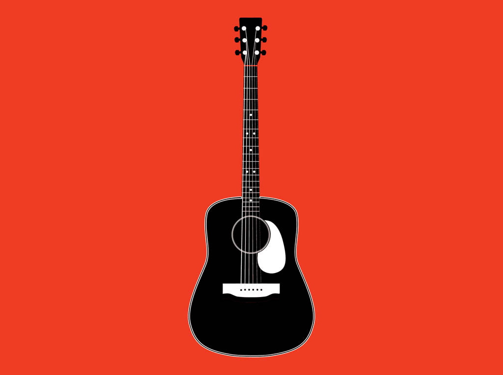 Acoustic Guitar Clipart Black And White | Clipart Panda - Free ...