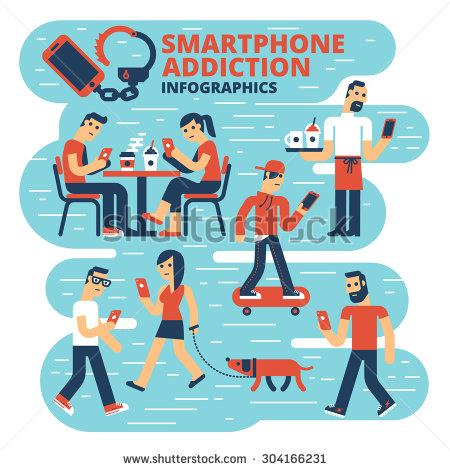 Smartphone Addiction | Clipart Panda - Free Clipart Images