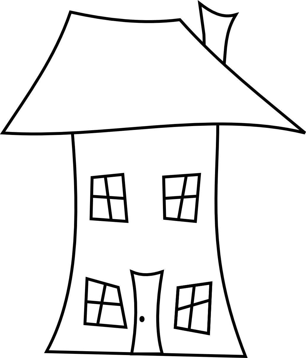 Line Drawing Of Your House : Adoration clipart panda free images