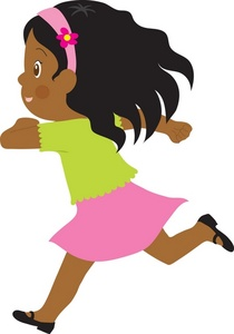 Little Girl Running Clipart | Clipart Panda - Free Clipart ...