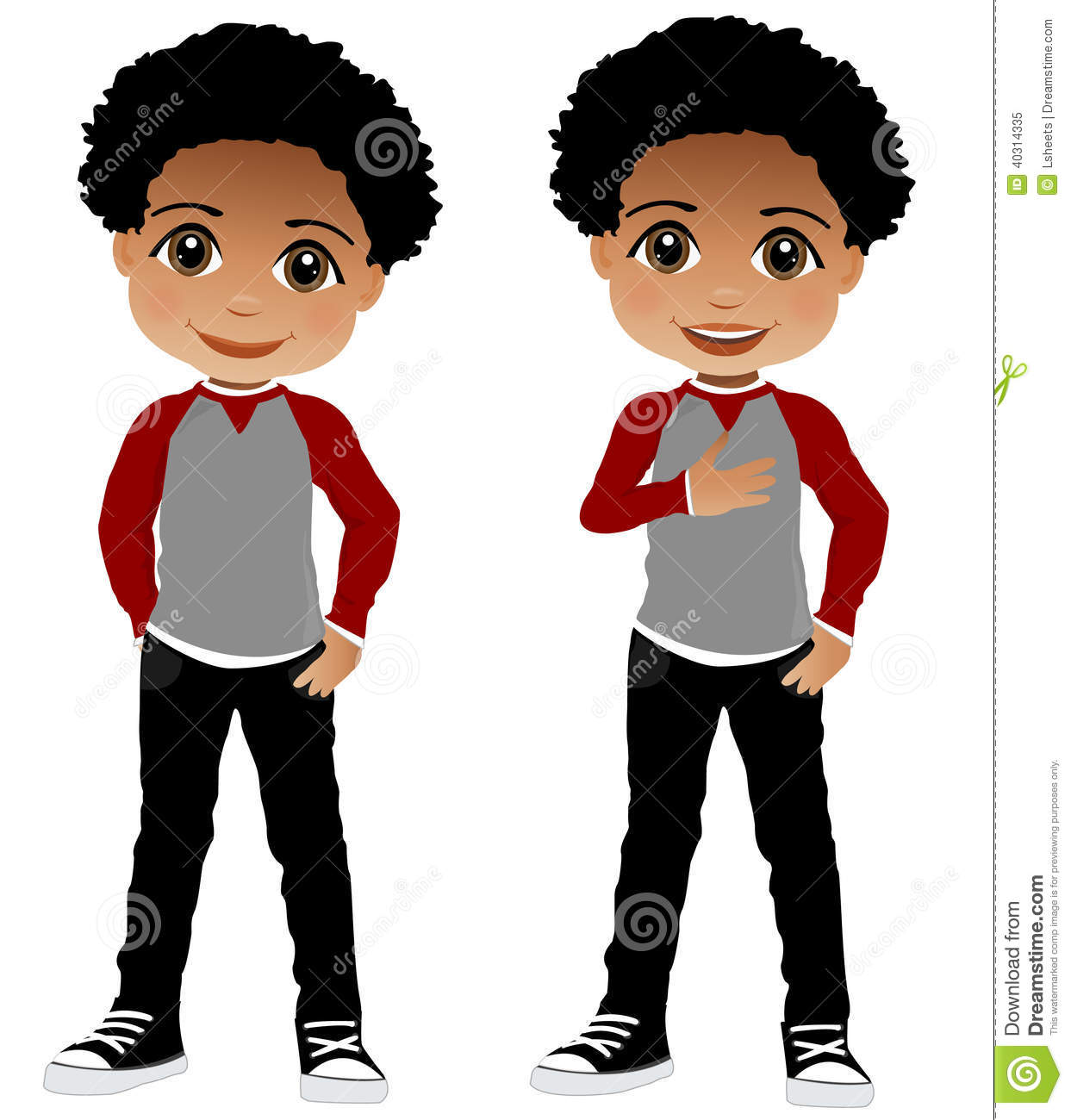 African American Clipart Of Children | Clipart Panda - Free ...
