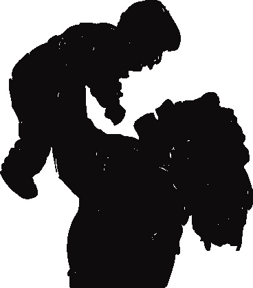 african american mother day clip art mother child silhouette cli