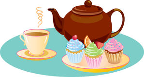 Free Clipart Tea And Cake : Afternoon Tea Clipart Panda - Free Clipart Images
