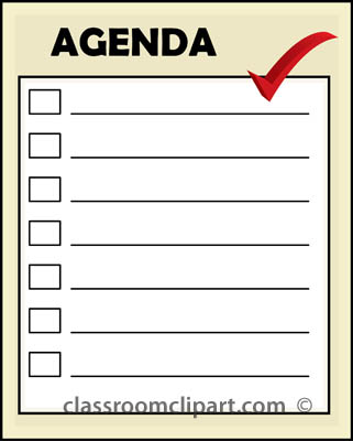 Agenda Clip Art Free  Clipart Panda  Free Clipart Images