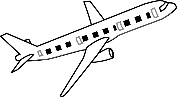 Airplane Clipart Black And White Clipart Panda Free