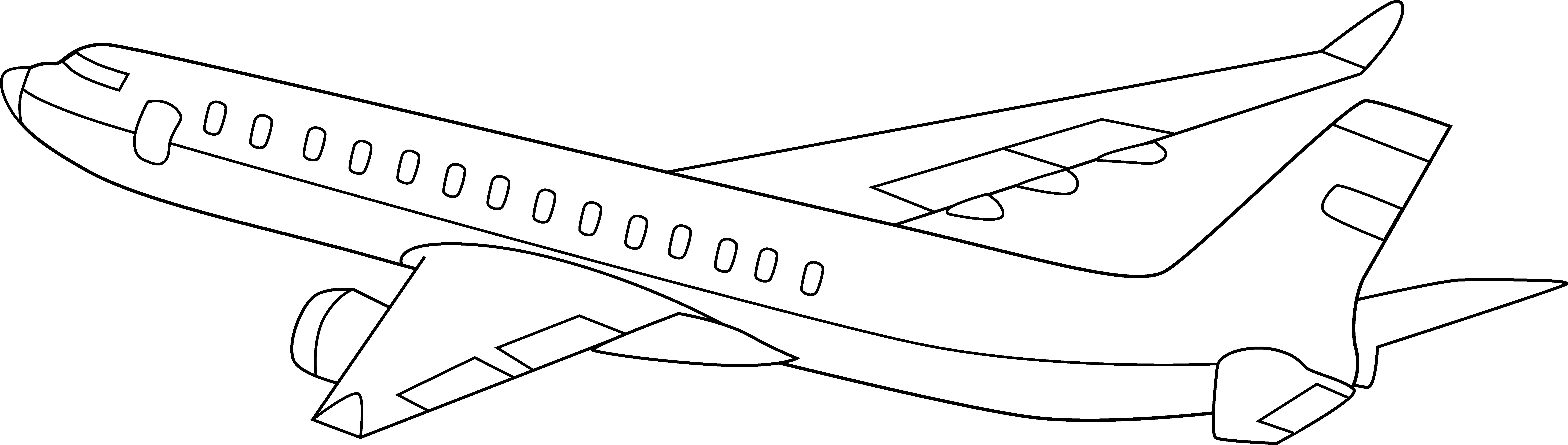 Line Drawing Jet : Airplane clipart black and white panda free