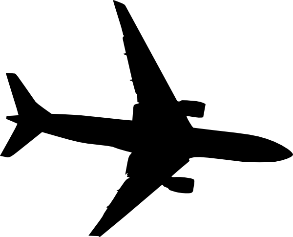 White Airplane Clipart No Background