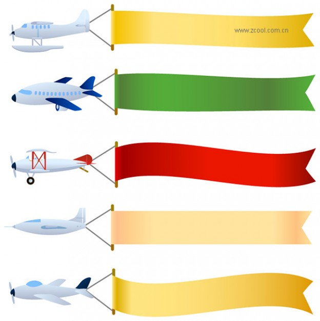 airplane with banner vector clipart panda free clipart images rh clipartpanda com cartoon airplane with banner clipart Futuristic Planes
