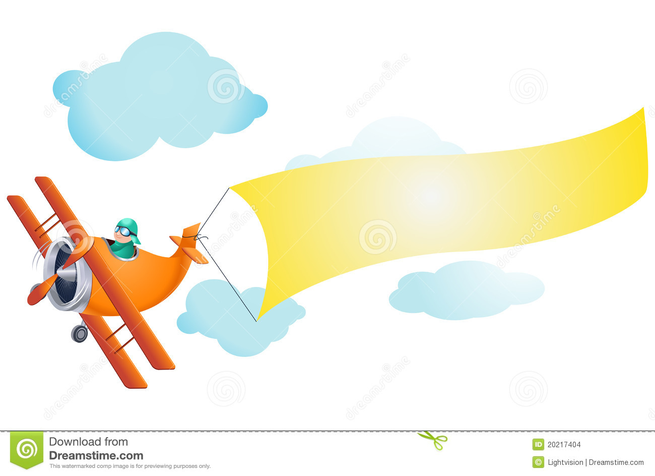 clipart airplane with banner - photo #26