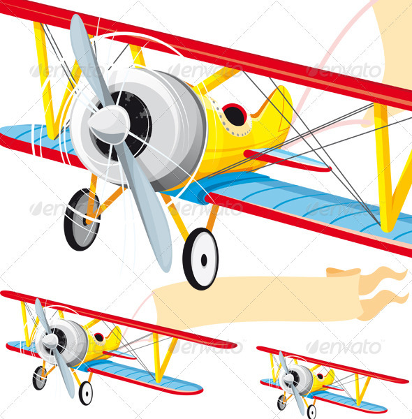 Airplane With Banner Png | Clipart Panda - Free Clipart Images