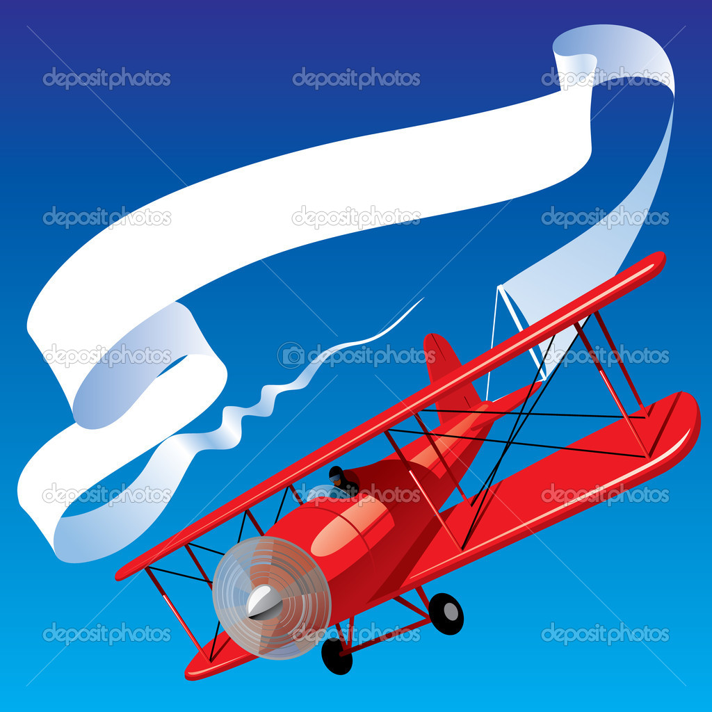 Airplane With Banner Vector | Clipart Panda - Free Clipart ... Vintage Airplane With Banner Clipart
