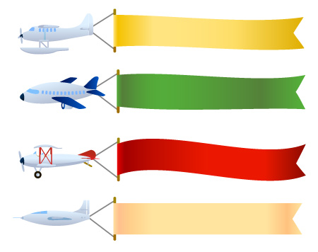 airplane with banner vector clipart panda free clipart images