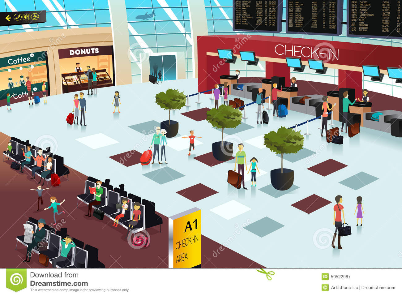 Inside the airport scene | Clipart Panda - Free Clipart Images