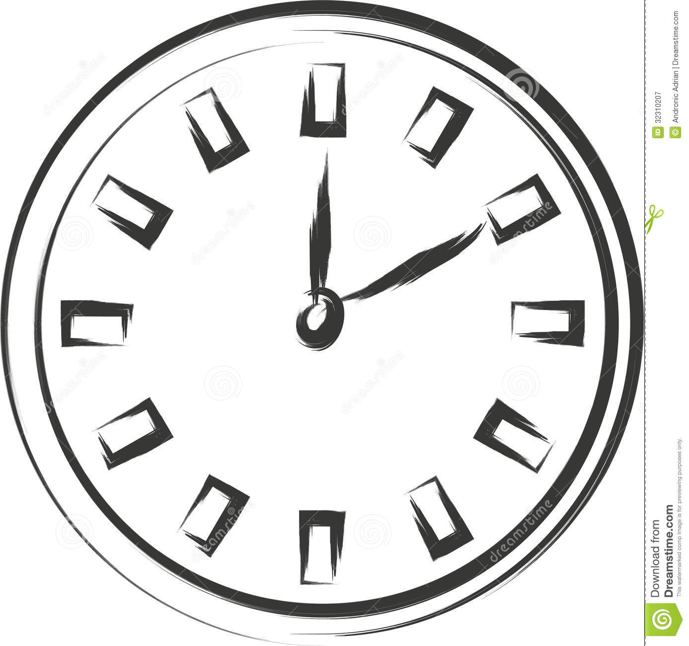 clock clipart black and white free - photo #10