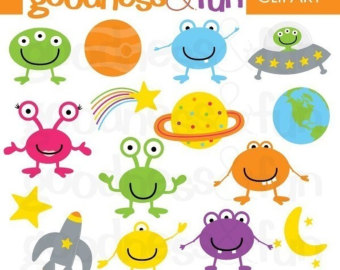 Alien Clip Art Animation on Solar System Projects For Kids