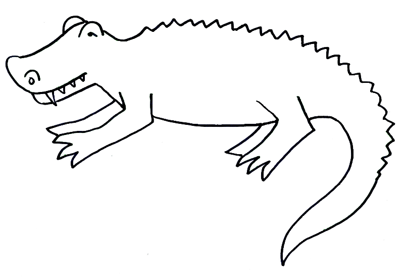 alligator coloring pages home coloring pages - Alligator Clip Art Coloring Pages