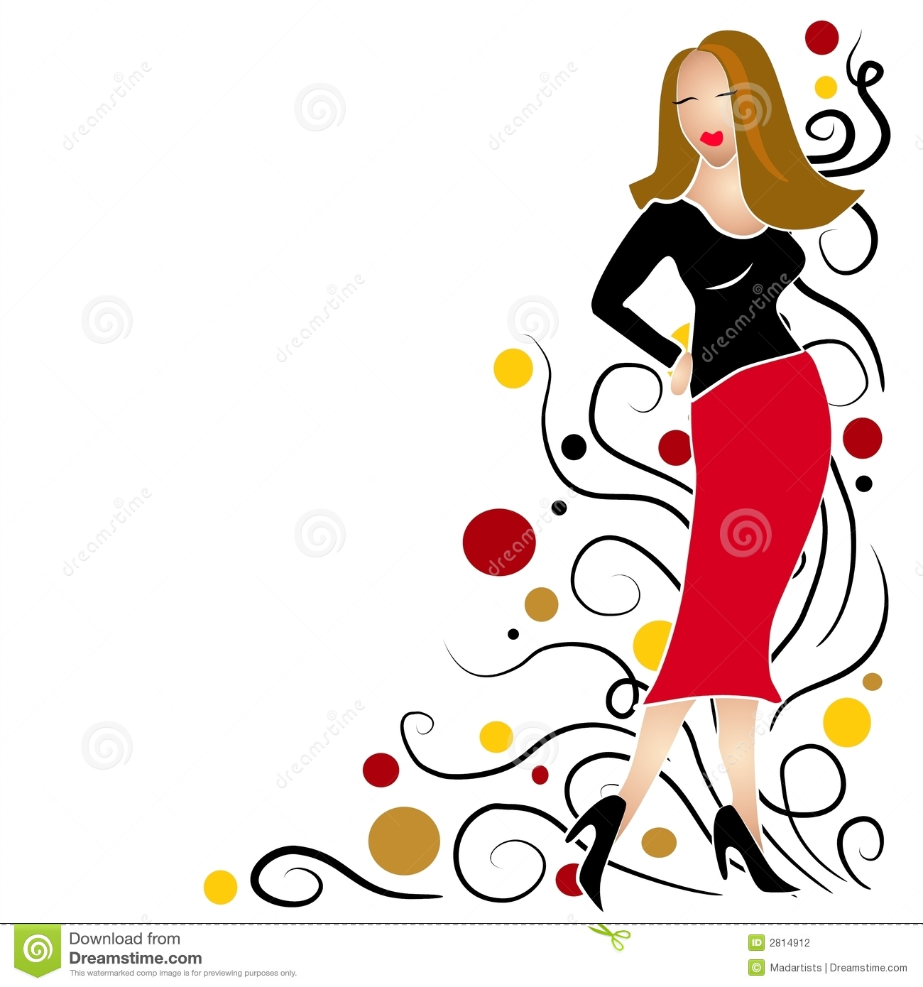 Fashion Show Model Clipart