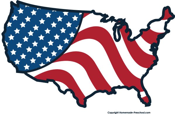 free animated clip art american flag - photo #12