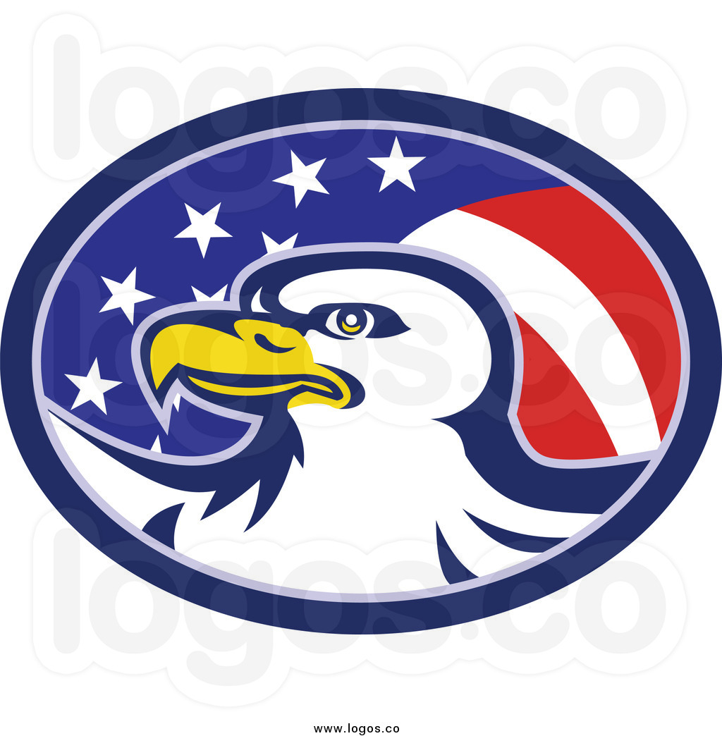american 20clipart  Eagle With Flag Clip Art