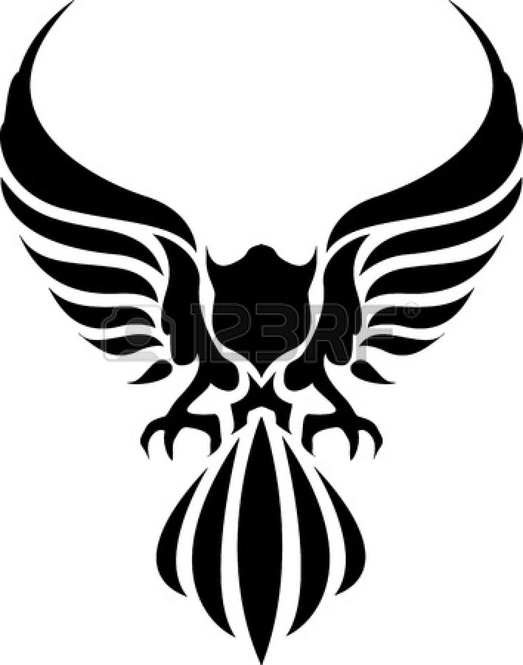American Eagle Clip Art Black And White | Clipart Panda ...