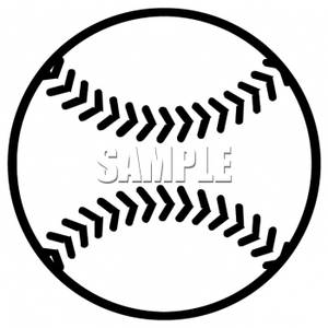 Baseball black and white. Clipart panda free images