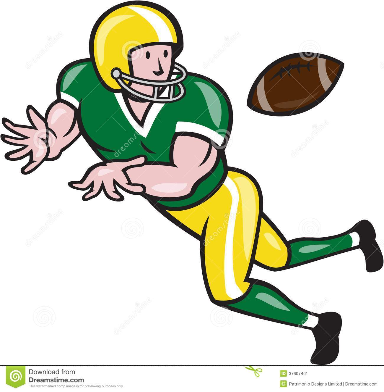 american-football-player-clipart-american-football-wide-receiver-catch    American Football Clipart