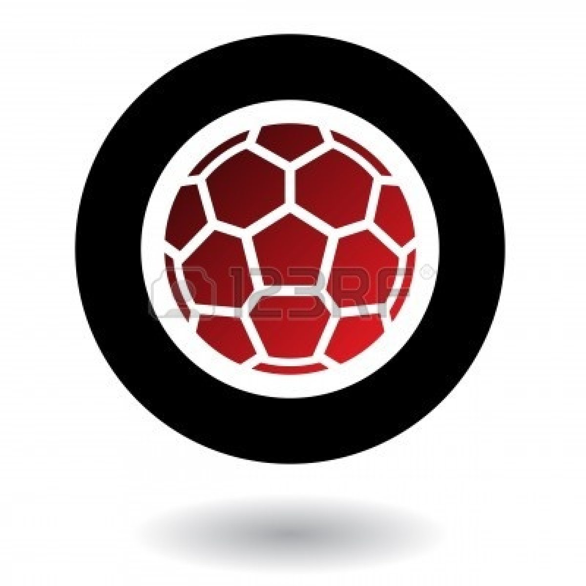 Red black sport logo