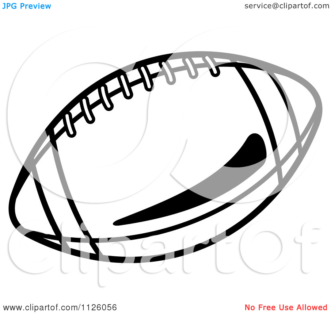 American Football Vector Black