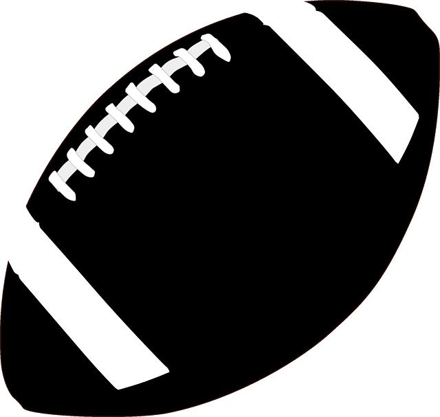 Nfl football clip art black and white