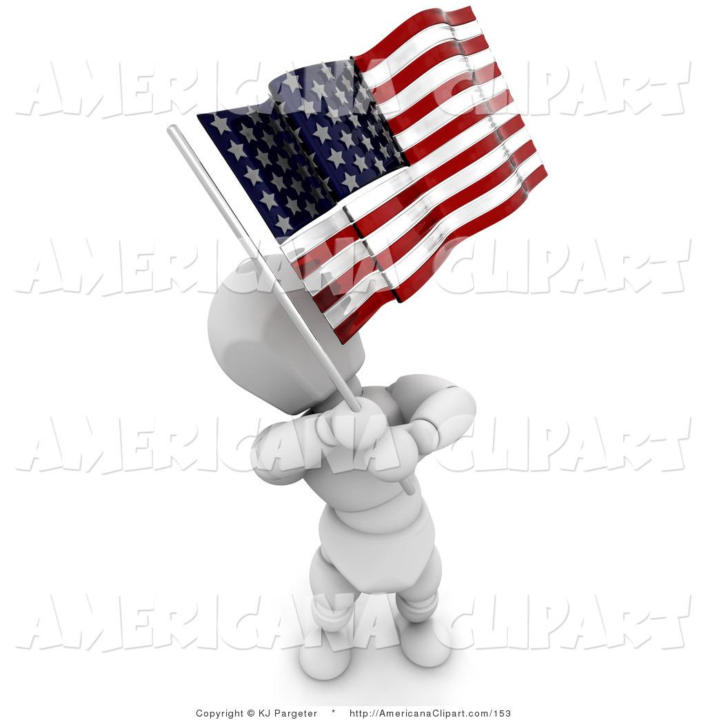 RoyaltyFree RF White Flag Clipart Illustrations
