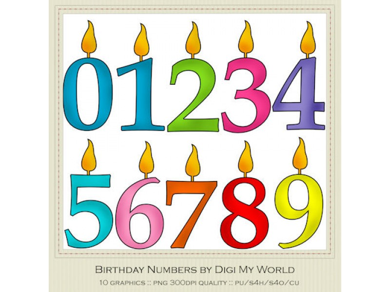 Christmas Numbers Clipart | Clipart Panda - Free Clipart Images