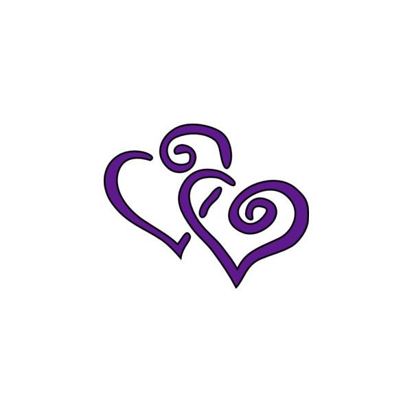 Purple Wedding Heart Clip Art | Clipart Panda - Free Clipart Images